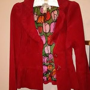 Anthropologie Elevenses blazer, red, sz 2